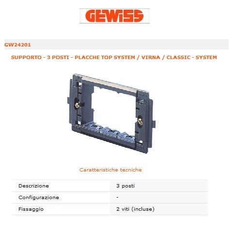 Acquista materiale elettrico e accessori online SUPPORTO 3 ...